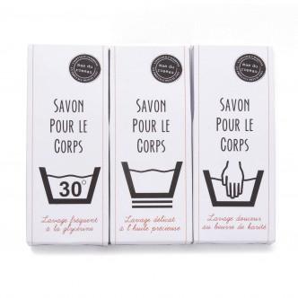 Savonnettes artisanales Mas du Roseau, emballages originaux