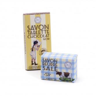 Savon exfoliant beurre salé et savon parfumé chocolat noir Le Mas du Roseau