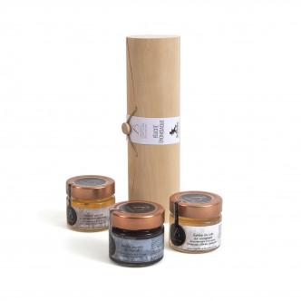 Feuille de poivrier en paillettes, curcuma en copeaux et paprika fumé