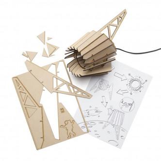Kit pour lampe Spot-nik Mini prédécoupé style vaisseau spatial