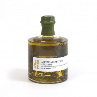 Huile d'olive vierge extra aromatisée au romarin, produit du Portugal