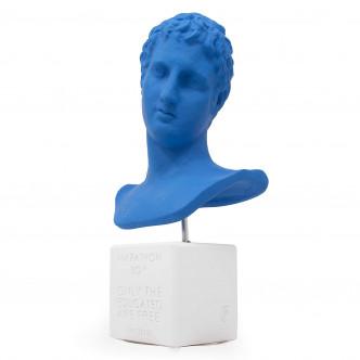 Petit buste déco bleu lapis lazuli : Ephèbe de Marathon par Sophia
