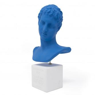Ephèbe de Marathon, relooking buste grec en céramine bleue