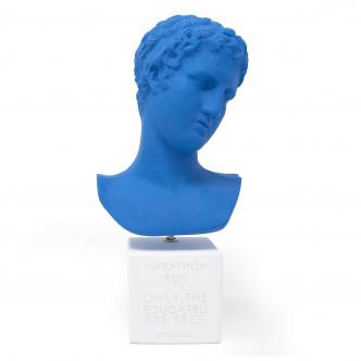 Buste d'éphèbe grec bleu pour une déco pop