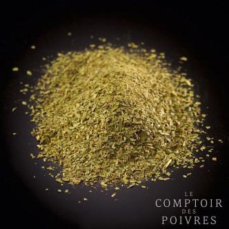 Paillettes de myrte anisée sélectionnée par le Comptoir des poivres