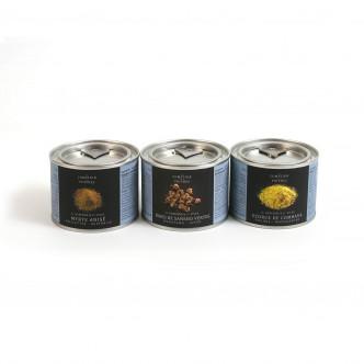 Trio d'épices pour crustacés premier choix sélection Comptoir des poivres