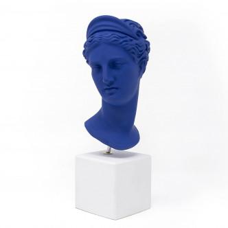 Petit buste d'Artémis, bleu Klein