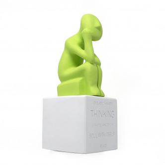 Penseur des Cyclades statuette avec inscription sur le socle