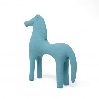 Figurine Cheval d'Olympie vintage bleu par Sophia, Athènes