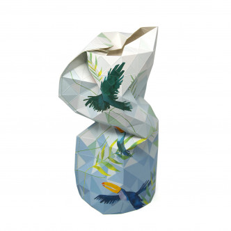 Couvre bouteille en papier pelliculé, design solidaire fabriqué à Mumbai