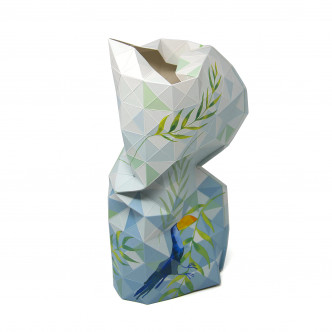 Vase papier Tiny Miracle motif Toucan