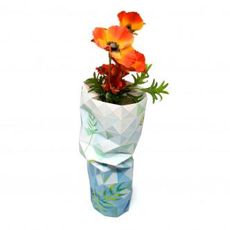 Cache-bouteille en papier pur vase design