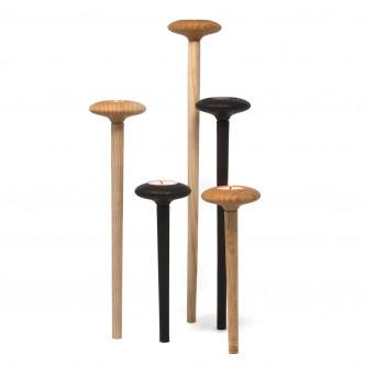 Photophore en bois de hêtre, base aimantée par LIB éditeur d'idée