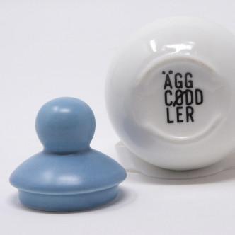 Coquetier AggCoddler chapeau porcelaine bleue