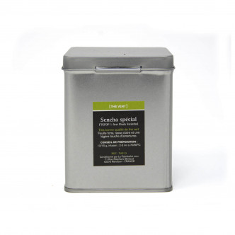 Sencha thé vert de Chine issu de l'agriculture biologique, boîte métal 100 g