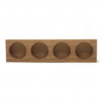 FOREA : Photophore magnétique en bois naturel