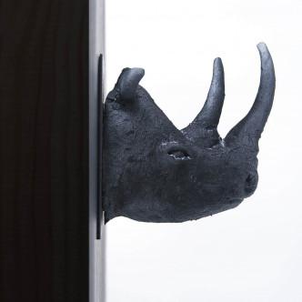 Trophée tête de rhinocéros, sculpture Sébastien Chartier