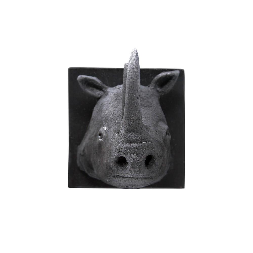 Petit trophée à tête de rhinocéros. Pièce unique par Sébastien Chartier