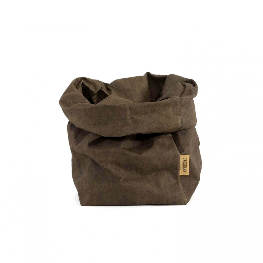 Petit sac en papier lavable, vide poche, corbeille à fruits, panière par Uashmama