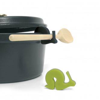 Ustensile malin, échappe vapeur, support à cuillère en silicone alimentaire