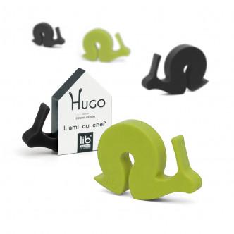 Hugo l'escargot accessoire pratique et rigolo en silicone, exite en noir ou en vert