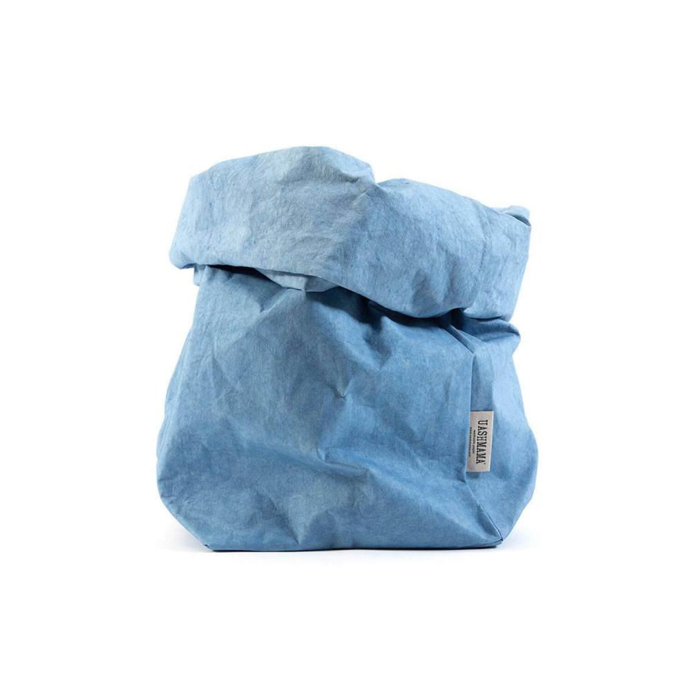 Sac en papier lavable bleu maya, taille M par Uashmama