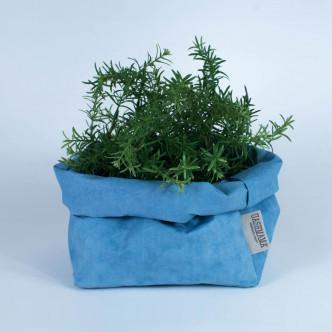 Sac Uashmama en papier lavable bleu, fabrication italienne