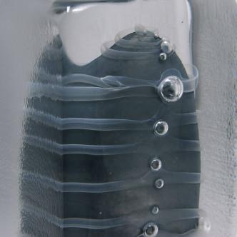 Sculpture en verre, soufflage et fusing : détail