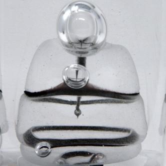 Art contemporain, totem en verre soufflé n°03