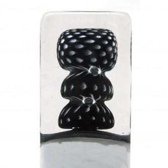 Sculpture en noir et blanc, verre soufflé. Pièce unique.