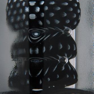 Détail sculpture en verre par Lise Gonthier