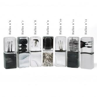 Haïkus en verre, sculptures originales de Lise Gonthier, Artisan d'art.