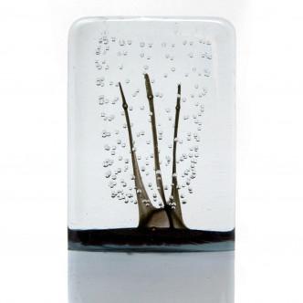 Art contemporain, Sculpture en verre, pièce unique n°10. Lise Gonthier, artisan d'art.
