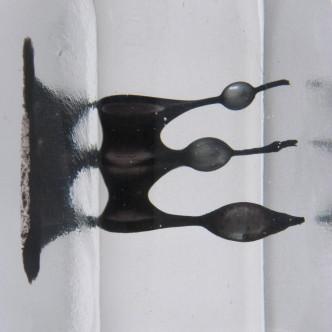 Sculpture d'art en verre soufflé et fusing. Création Lise Gonthier.