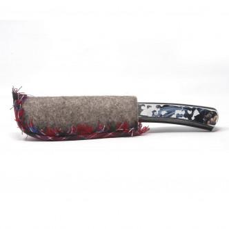 Etui protège lame en feutre épais frangé de tartan écossais