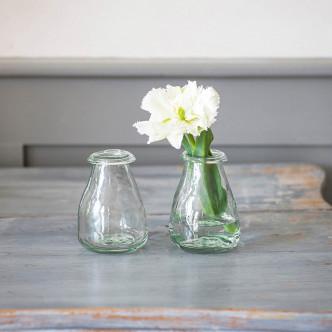 Petits vases en verre recyclé, col ourlé par Garden Trading