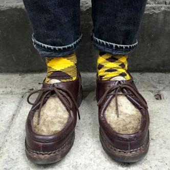 Des chaussettes que l'on affiche