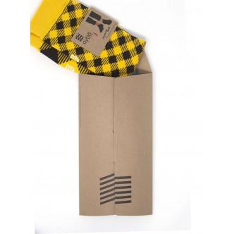 Chaussettes Oybo présentées dans leur pochette cadeau