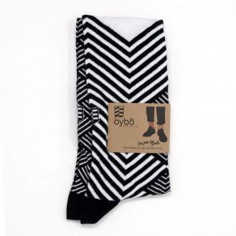 Chaussettes dépareillées motif peacock
