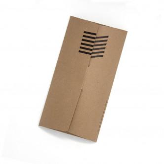 Pochette cadeau en carton recyclé pour les chaussettes Oybo