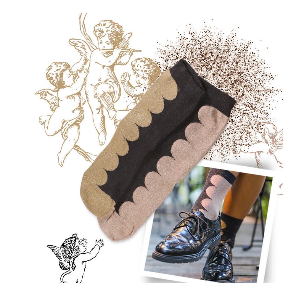 Des chaussettes pailletées et dépareillées pour femme par Oybo