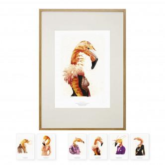 Affiche 32 x 45 cm livrée avec un jeu de cartes postales.