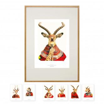 Affiche 32 x 45 cm encadrée + un jeu de 6 cartes postales