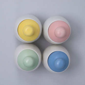 Set de 4 aggcoddlers couleurs pastel