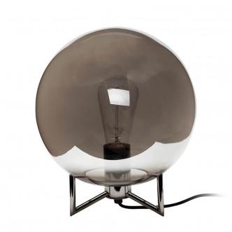Lampe à poser en verre et métal chromé par Hübsch