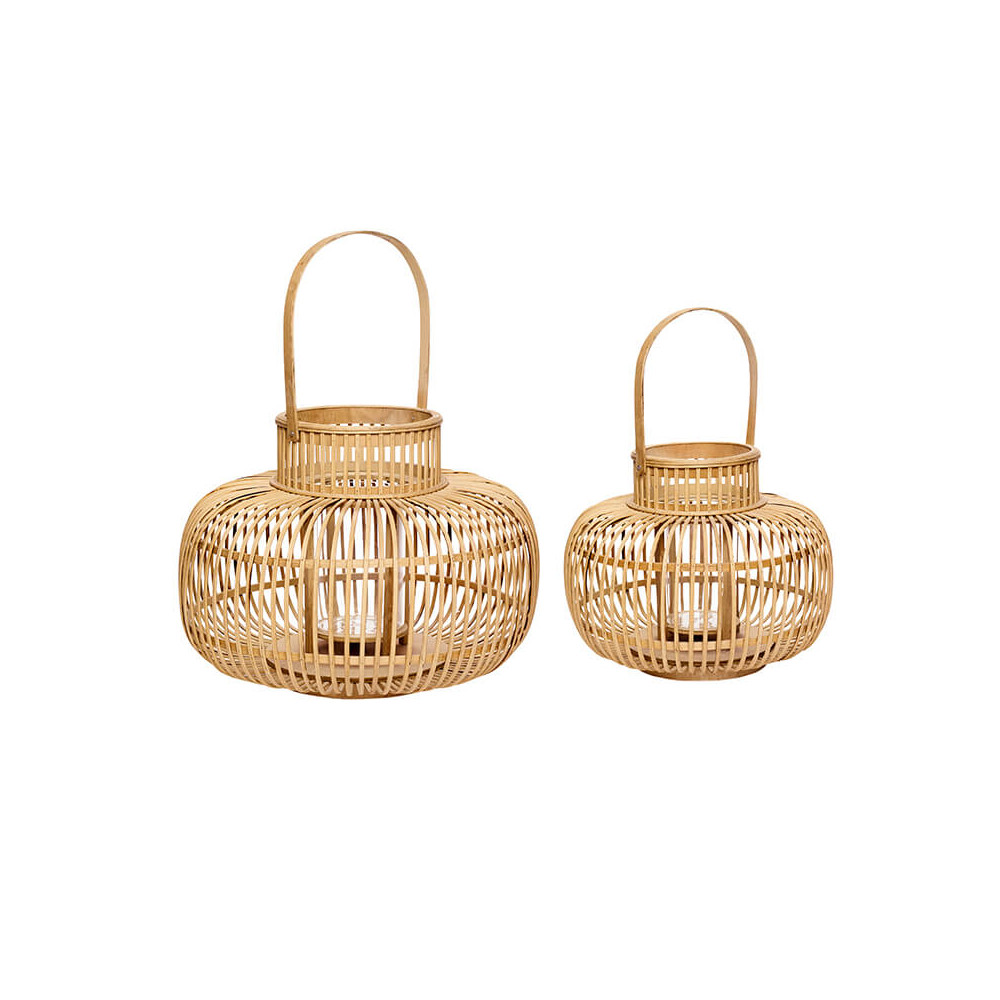 Superbes lanternes en bambou Hübsch