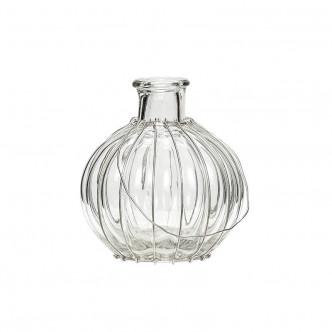Petit vase en verre à suspendre par son fil métallique par Hübsch