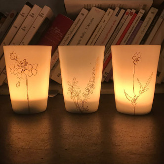 Jolie lumière des bougies