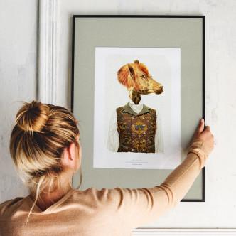 Portrait Glirafion, affiche 32 x 45 cm. Tirage limité sur papier d'art.