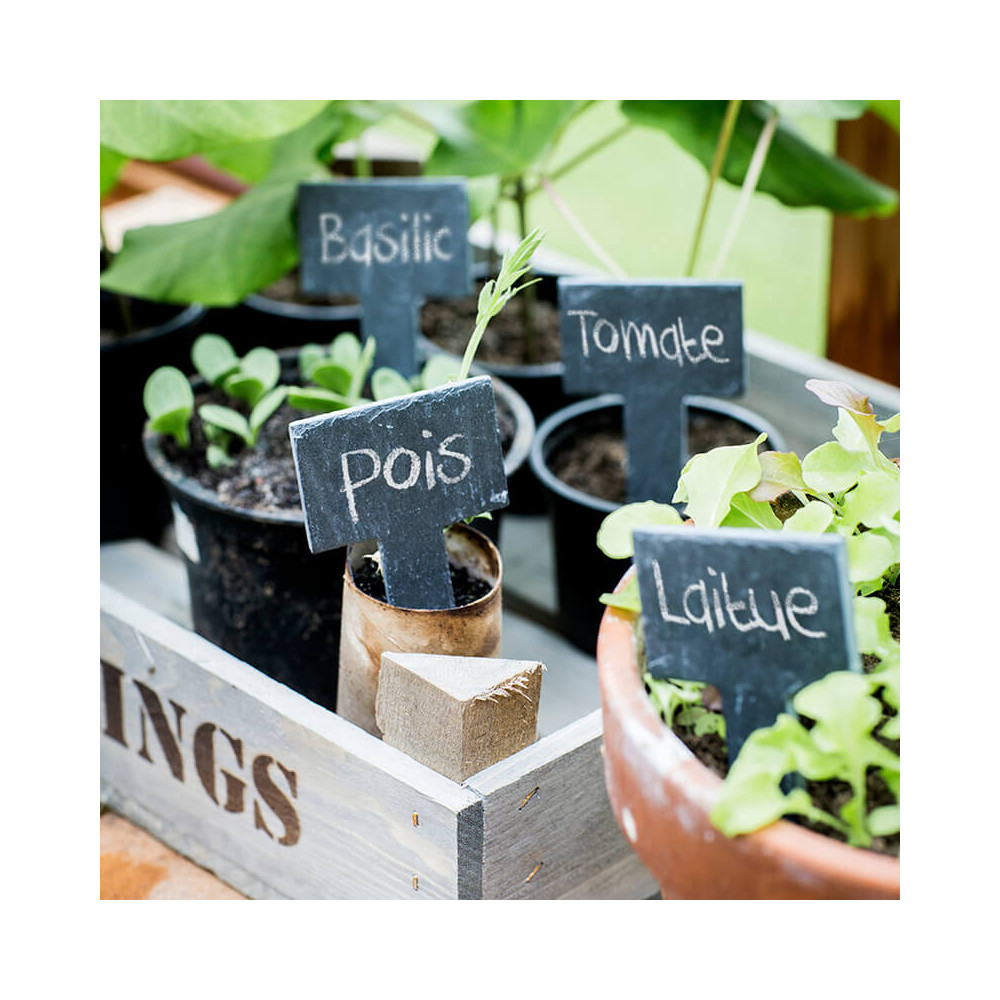 Piques en ardoise pour jardin Garden Trading
